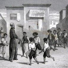Arte: 1863 - GRABADO - SAN FRANCISCO JAVIER EN GOA - 180X137MM. Lote 95072991