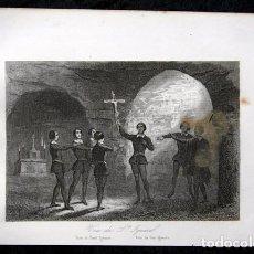 Arte: 1863 - GRABADO - VOTO DE SAN IGNACIO DE LOYOLA - 181X130MM. Lote 95073991