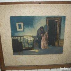 Arte: LITOGRAFÍA DE 1926 - PUBLICADA POR STAMPE MODERNE - FIRMA ILEGIBLE . NÚMERO 99 - PAREJA. Lote 95083679