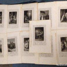 Arte: 11 GRABADOS CON ESCENAS DE LA VIDA DE JESÚS. Lote 95112987