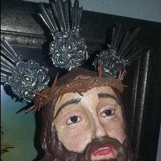 Sensacional Cristo cautivo de madera (85 cms)