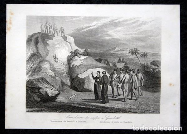 1863 - GRABADO - IMMOLACION DE NINOS EN GUACHETA - COLOMBIA - 178X121MM - (Arte - Arte Religioso - Grabados)