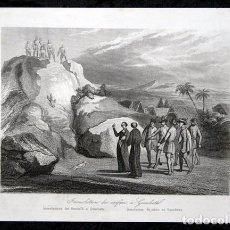 Arte: 1863 - GRABADO - IMMOLACION DE NINOS EN GUACHETA - COLOMBIA - 178X121MM - . Lote 95196579