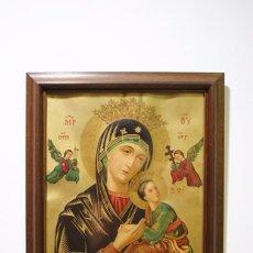 Arte: CUADRO RELIGIOSO ANTIGUO NUESTRA SEÑORA DEL PERPETUO SOCORRO. Lote 95288211