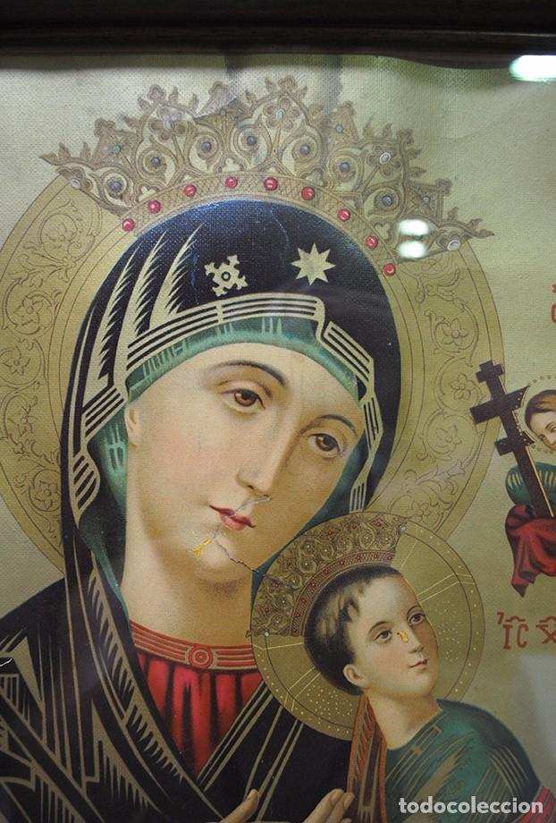 Arte: CUADRO RELIGIOSO ANTIGUO NUESTRA SEÑORA DEL PERPETUO SOCORRO - Foto 2 - 95288211