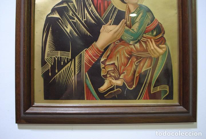 Arte: CUADRO RELIGIOSO ANTIGUO NUESTRA SEÑORA DEL PERPETUO SOCORRO - Foto 4 - 95288211