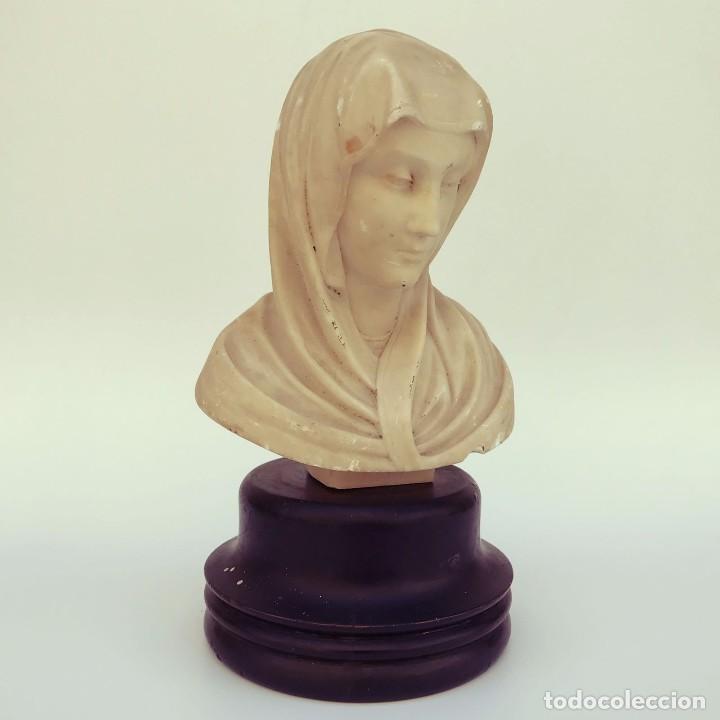 VIRGEN EN ALABASTRO (Arte - Arte Religioso - Escultura)