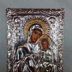 Arte: ICONO VIRGEN CON NIÑO - ARGENTO 925.. Lote 147562376