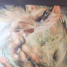 Arte: LITOGRAFÍA POEMA ATLÁNTICO BORRASCA NÉSTOR DE LA TORRE CANARIAS GRAN CANARIA PPIOS SIGLO XX 43X43 CM. Lote 95515747