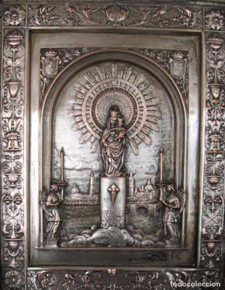 antiguo cuadro grabado sobre metal plateado vir - Comprar Grabados ...
