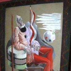 Arte: LUIS SÁENZ DE LA CALZADA. TEATRO LA BARRACA. GARCIA LORCA. GENERACIÓN DEL 27. GOUACHE. 1939.. Lote 95845431