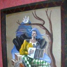 Arte: LUIS SÁENZ DE LA CALZADA. TEATRO LA BARRACA. GARCIA LORCA. GENERACIÓN 27. GOUACHE. 1939.. Lote 95845547