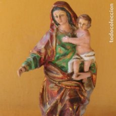 Arte: VIRGEN CON NIÑO EN TERRACOTA.. Lote 95896827