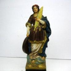 Arte: ANTIGUA Y BELLA IMAGEN RELIGIOSA SANTA CATALINA . ESTUCO POLICROMADO . Lote 96062779