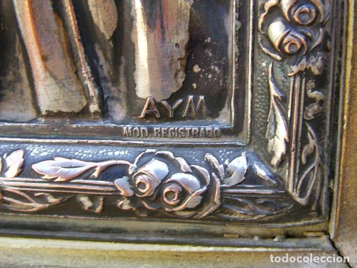 Arte: RETABLO DE JESUCRISTO EN METAL Y EN RELIEVE- FIRMADO AYM - Foto 4 - 96075387