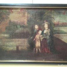 Arte: SAGRADA FAMILIA, ESCUELA COLONIAL DEL SIGLO XVIII, OLEO/LIENZO,REENTELADO. Lote 96101131