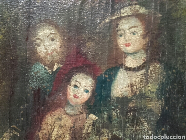 Arte: SAGRADA FAMILIA. ESCUELA COLONIAL, SIGLO XVIII. ÓLEO SOBRE LIENZO. REENTELADO. - Foto 5 - 96101131