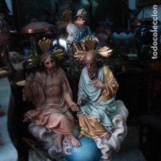 Art - Delicada Santísima Trinidad estuco de Olot. - 107474904