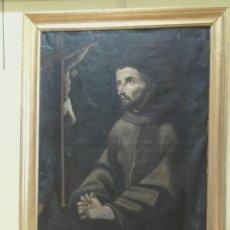 Arte: SAN FRANCISCO ANTE EL CRUCIFIJO. ÓLEO/LIENZO DEL SIGLO XVII. CÍRCULO DE LUIS TRISTÁN.. Lote 96254266