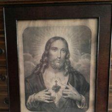 Arte: EL SAGRADO CORAZÓN DE JESÚS. LITOGRAFÍA FRANCESA DEL SIGLO XIX.. Lote 96176582
