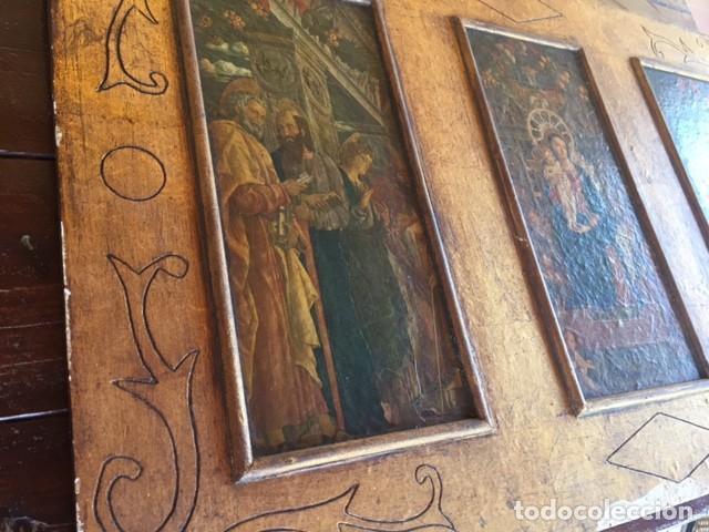 PRECIOSO GRAN RETABLO IMÁGENES RELIGIOSAS (Arte - Arte Religioso - Retablos)