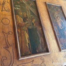 Arte: PRECIOSO GRAN RETABLO IMÁGENES RELIGIOSAS. Lote 96301079