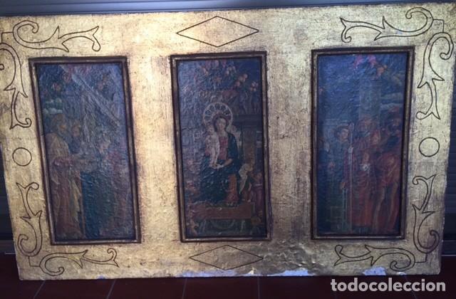 Arte: Precioso gran retablo imágenes religiosas - Foto 2 - 96301079