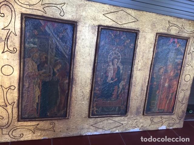 Arte: Precioso gran retablo imágenes religiosas - Foto 3 - 96301079