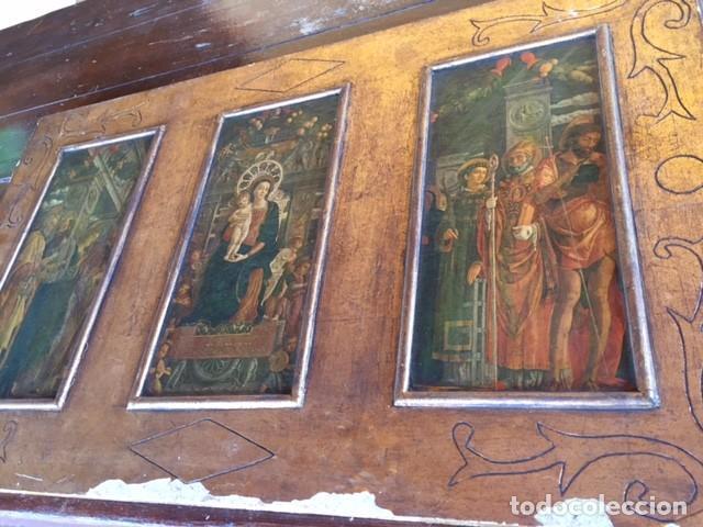 Arte: Precioso gran retablo imágenes religiosas - Foto 4 - 96301079