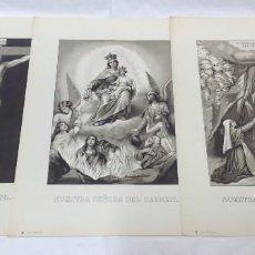 Arte: LOTE 3 ANTIGUAS LITOGRAFÍAS RELIGIOSAS, S. DURÁ, VALENCIA.. Lote 96301875