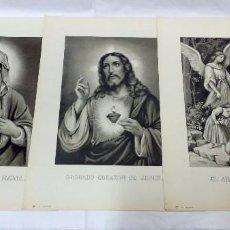 Arte: LOTE 3 ANTIGUAS LITOGRAFÍAS RELIGIOSAS, S. DURÁ. VALENCIA. Lote 96302023