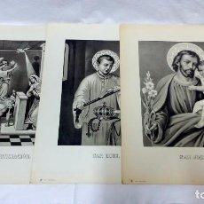 Arte: LOTE 3 ANTIGUAS LITOGRAFÍAS RELIGIOSAS, S. DURÁ. VALENCIA. Lote 96302487