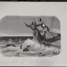 Arte: 1863 - GRABADO - MARTIRIO DE DIAZ Y DE SUS CUATRO COMPAÑEROS - 178X 130MM. Lote 96363339