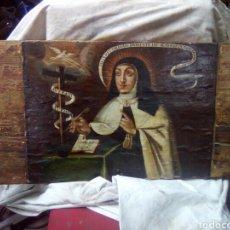 Arte: PINTURA SOBRE TABLA.SANTA TERESA. S XVII. Lote 96383012