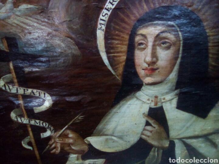 Arte: Pintura sobre tabla.Santa Teresa. S xvii - Foto 2 - 96383012