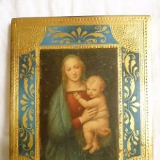 Arte: ICONO SOBRE TABLA VIRGEN DE GRANDUCA DE RAFAELLO SANCIO (1483- 1520) 19,5 X 15,5 CMS.. Lote 96490795