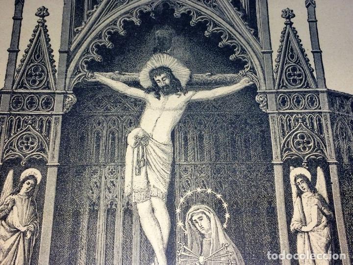 Arte: SANTO CRISTO DE LEPANTO. INDULGENCIAS. LITOGRAFIA. TARRAGÓ. ESPAÑA. XIX - Foto 3 - 96605599