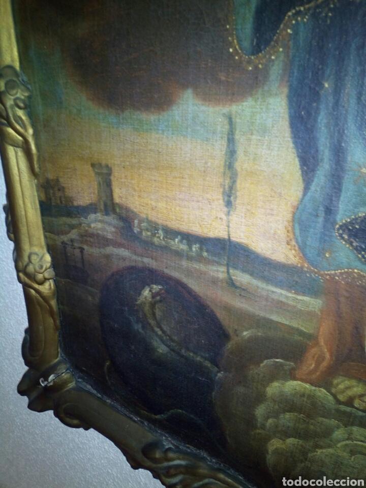 Arte: Inmaculada siglo XVIII, oleo sobre lienzo. - Foto 5 - 96663639