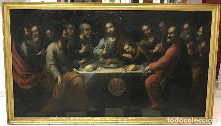 ÓLEO SOBRE LIENZO, SANTA CENA, ESCUELA SEVILLANA, S XVII CON EXPERTIZACION VALORADA EN 9.000€ (Arte - Arte Religioso - Pintura Religiosa - Oleo)
