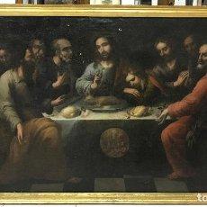 Arte: ÓLEO SOBRE LIENZO, SANTA CENA, ESCUELA SEVILLANA, S XVII CON EXPERTIZACION VALORADA EN 9.000€. Lote 100255138