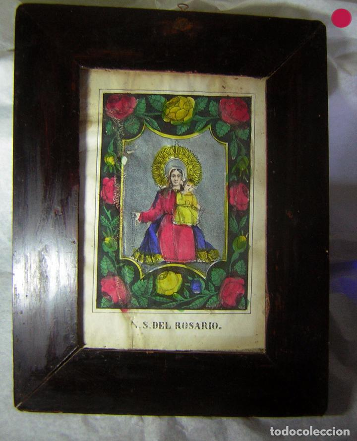 grabado litografía antiguo coloreado a mano con - Comprar ...