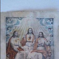 Arte: GRABADO DE LA SA TRINIDAD-DIE H. DREIFALTIGLEIIT -. Lote 96903883