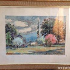 Arte: PRECIOSA Y ANTIGÜA ACUARELA FIRMADA J. MANSILLA Y ENMARCADA. Lote 96911063