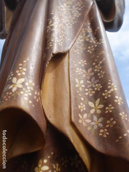 Arte: SAN JOSE CON NIÑO PASTA DE MADERA OLOT - Foto 2 - 96972399