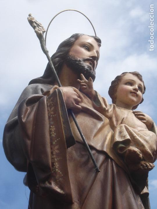 Arte: SAN JOSE CON NIÑO PASTA DE MADERA OLOT - Foto 7 - 96972399