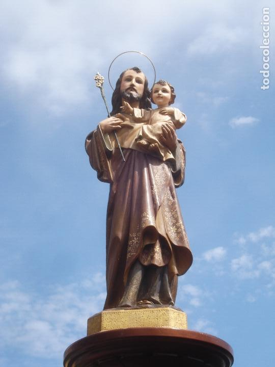 Arte: SAN JOSE CON NIÑO PASTA DE MADERA OLOT - Foto 11 - 96972399