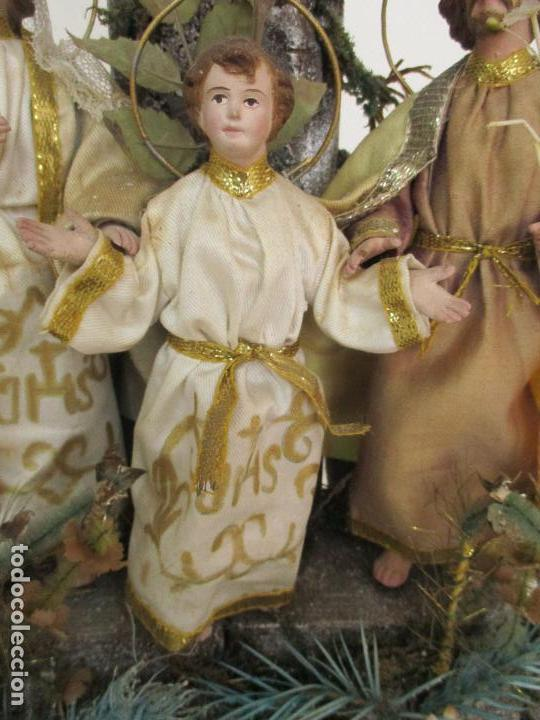 Arte: Sagrada Familia - Cap y Pota - Isabelina - Terracota - en Urna, Fanal de Cristal - S. XIX - Foto 4 - 97052651