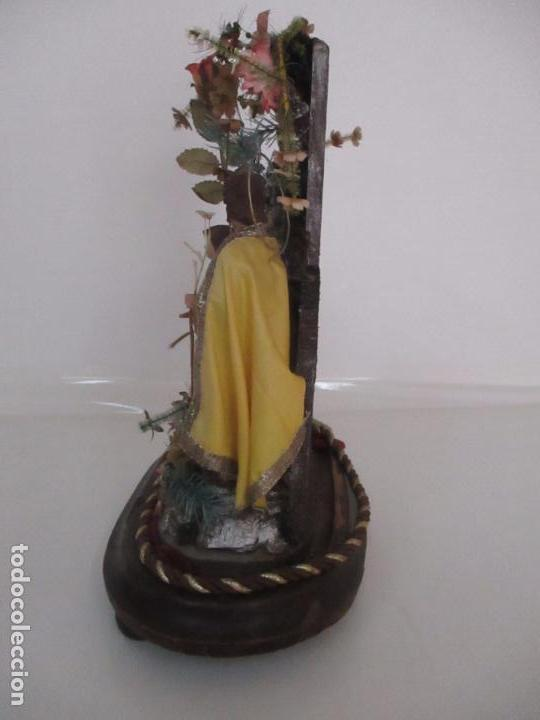 Arte: Sagrada Familia - Cap y Pota - Isabelina - Terracota - en Urna, Fanal de Cristal - S. XIX - Foto 18 - 97052651