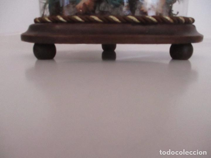 Arte: Sagrada Familia - Cap y Pota - Isabelina - Terracota - en Urna, Fanal de Cristal - S. XIX - Foto 28 - 97052651