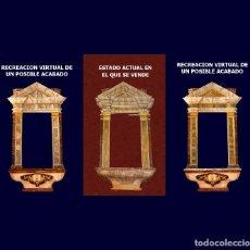 Arte: !OPORTUNIDAD¡ GRAN RETABLO DEL SIGLO XVIII. MADERA, ORO FINO Y POLICROMIA AL OLEO. TALLA. IGLESIA. Lote 71491759